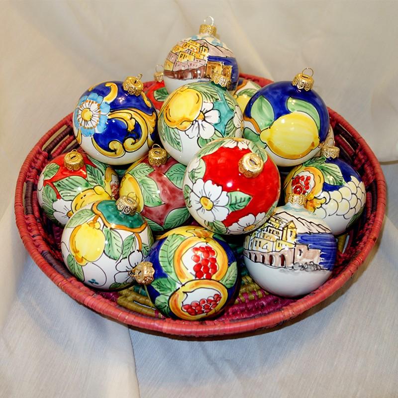 Amalfi Coast Italy Ceramic Christmas Ornaments