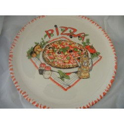 Italian Ceramic Pizza Plate