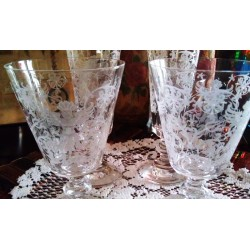 Florence Etched Wine Glass...