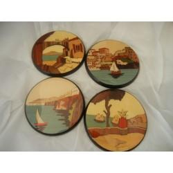 Sorrento Inlaid Wood Coasters