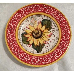 Italian Ceramic Sunflower 9...