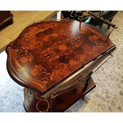 Inlaid Wood Trolley Sorrento