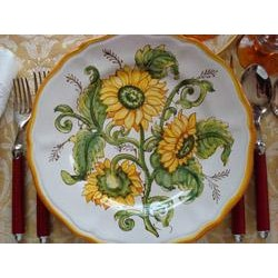 Italian Sunflower Plate