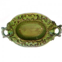 Italian Ceramic Oval Bowl...
