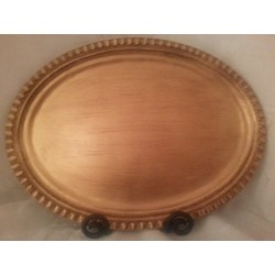 Tuscan Gold Leaf Oval Tray