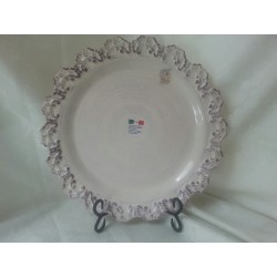 Round Sculpted Serving Plate