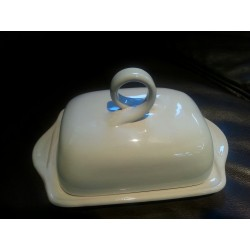 White Butter Dish Tuscany