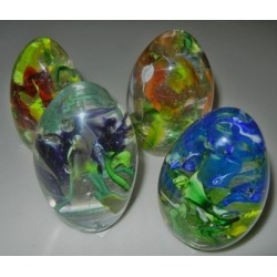 Artisan Glass Eggs with...
