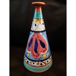 """Vietri Bottle 6"""" Floral"""