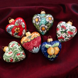 Amalfi Coast Heart Ornaments