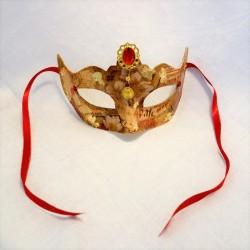 Venetian Half Mask Red Jewel