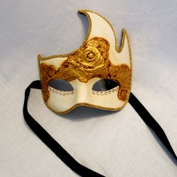 Gold and Ivory Venetian Mask