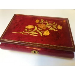 Red Floral Music Box Florence