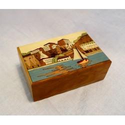 Inlaid Wood Box Sorrento Scene